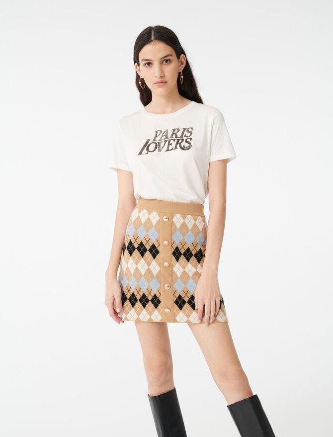 Jupe en jacquard boutonnée - Jupes & Shorts - MAJE