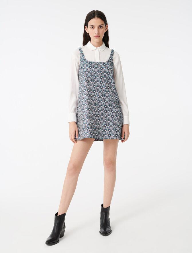 Strappy jacquard dress - Dresses - MAJE