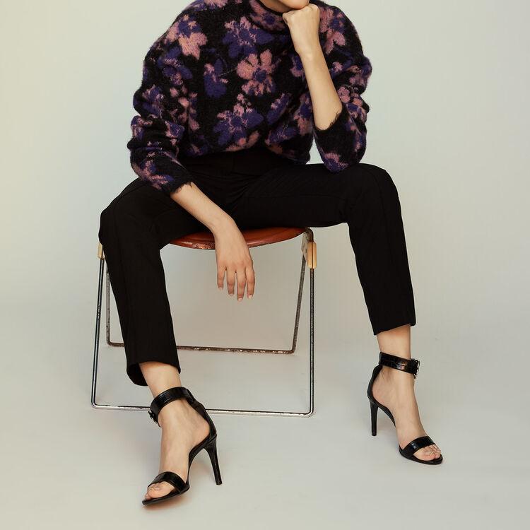 Pantalon droit de tailleur : Pantalons couleur Black