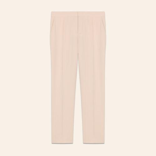 Pantalon droit type tailleur : Pantalons couleur ROSE