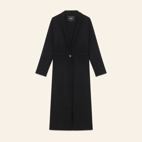 Manteau long en laine double face : LAST CHANCE couleur BLACK