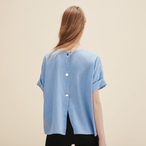 Brushed cotton top : Tops color Blue