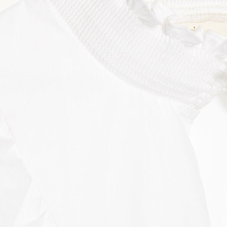 Blouse en popeline de coton : Tops couleur ECRU