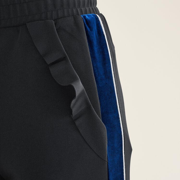 Pantalon droit esprit jogging : Pantalons & Jeans couleur Black