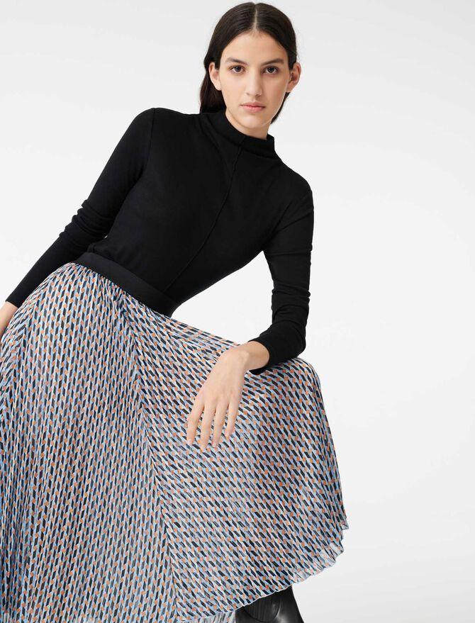 Lurex jacquard print skirt - Skirts & Shorts - MAJE