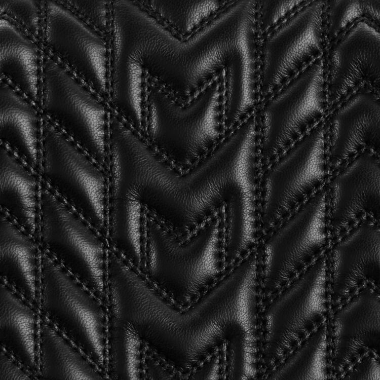 Sac mini-cartable en cuir matelassé : Sacs LDance couleur BLACK