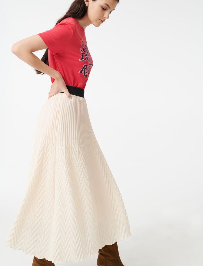 Geometric pleated skirt -  - MAJE