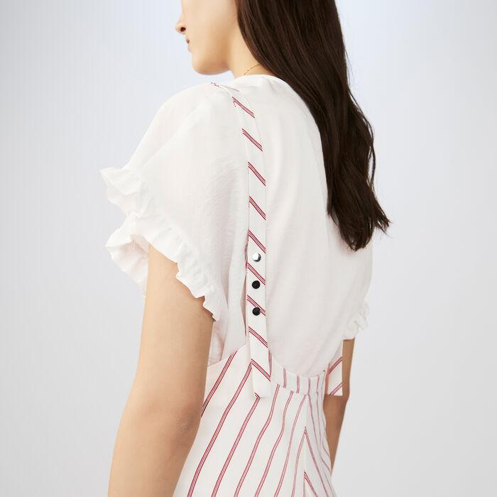 Robe rayée à bretelles : Robes couleur Rayure