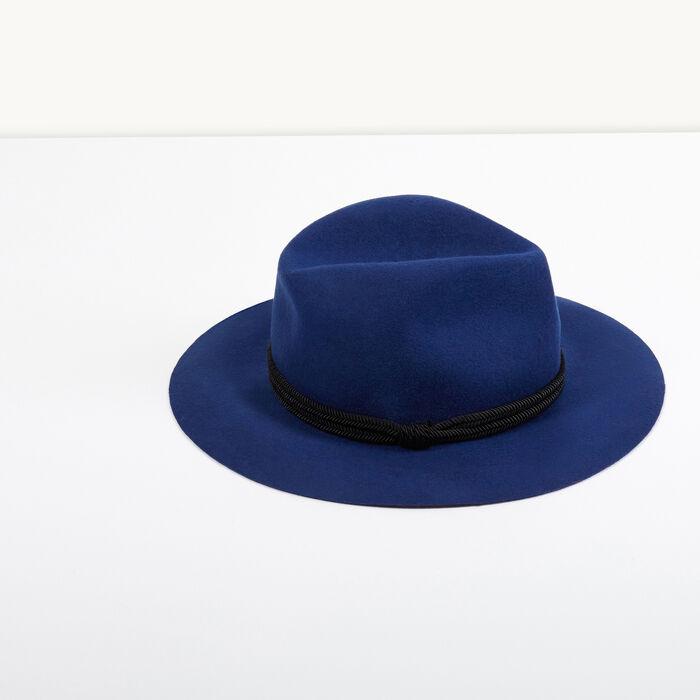Chapeau en feutre de laine : Accessoires couleur BLEU