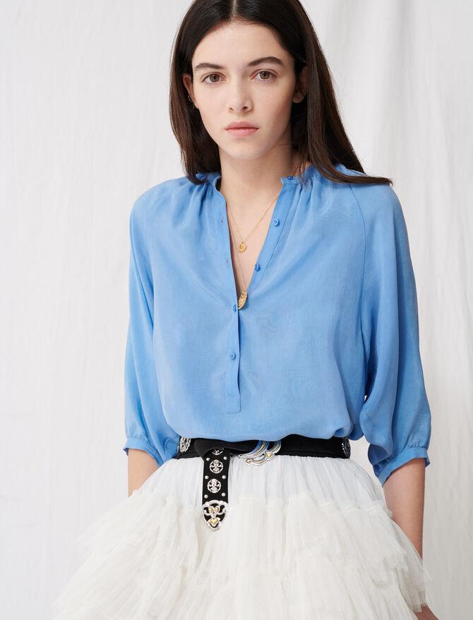 Blouse boutonnée à fronces - Tops & Chemises - MAJE