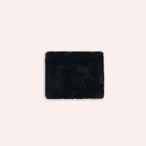 Tour de cou en lapin : Accessoires couleur Black