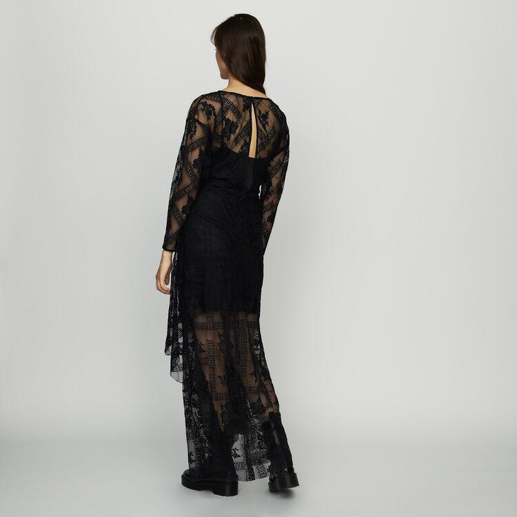 Robe foulard en dentelle : Robes couleur Black
