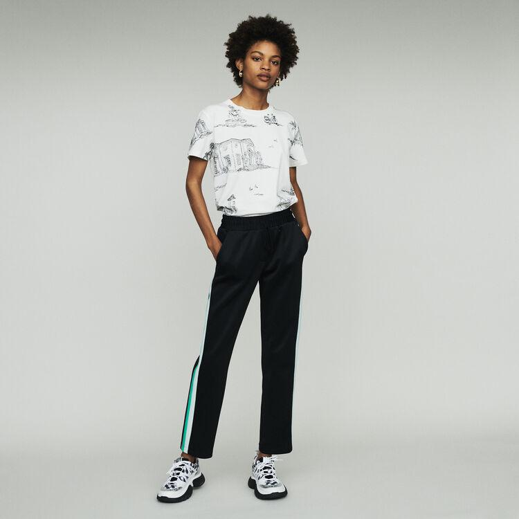 Pantalon de sport à bandes : Pantalons & Jeans couleur BLACK