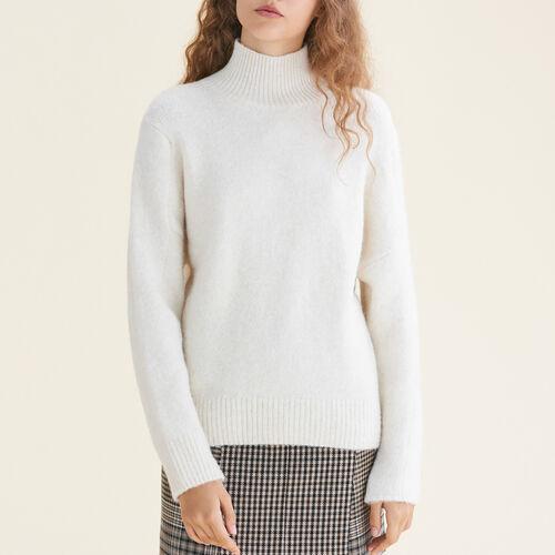 Pull à col montant : Pulls & Cardigans couleur ECRU