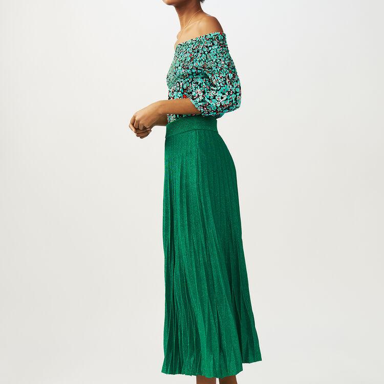 Jupe longue plissée : Jupes & Shorts couleur VERT