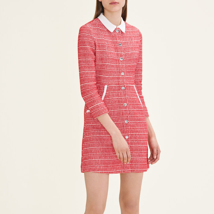 Robe en jacquard : Robes couleur Rouge