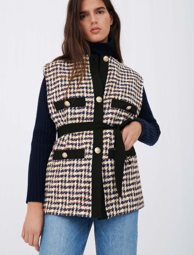Veste façon tweed inspiration cardigan - Pulls & Cardigans - MAJE