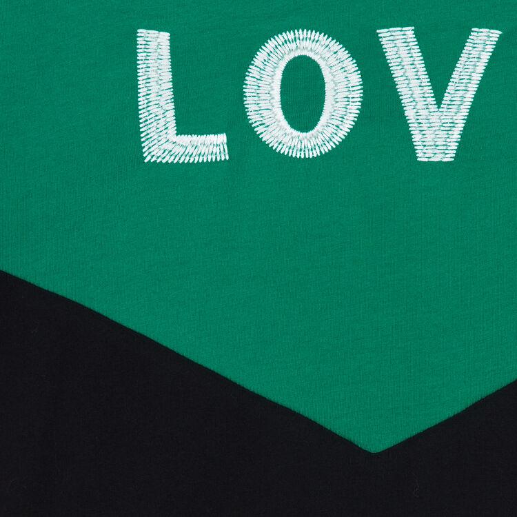 Tee-shirt bicolore avec broderie : Nouvelle Collection couleur MULTICO