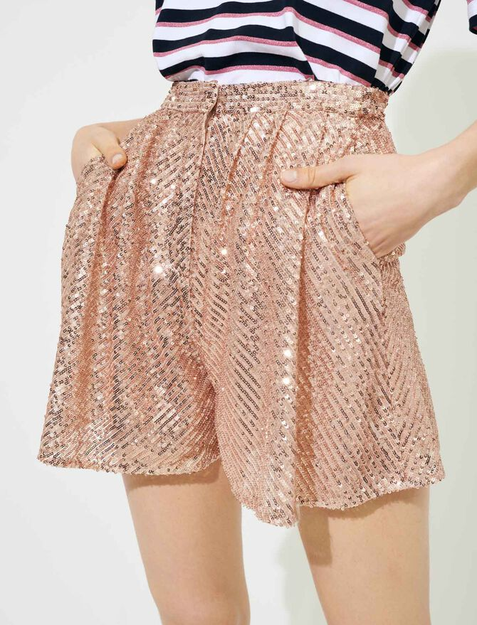 Short à sequins - Jupes & Shorts - MAJE