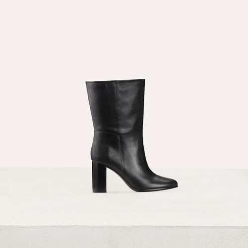 Bottines en cuir souple : Bottines couleur Black