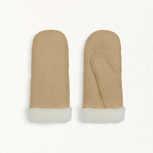 Sheepskin mittens : Accessories color Camel