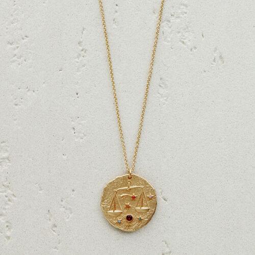 Libra zodiac sign necklace : Jewelry color GOLD