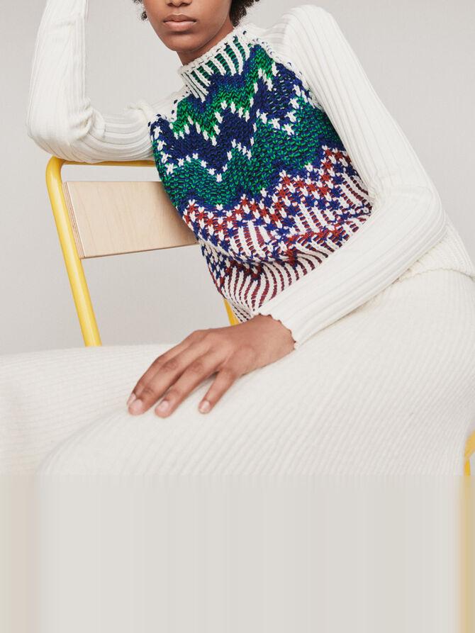 Sweater with fancy motifs - Knitwear - MAJE