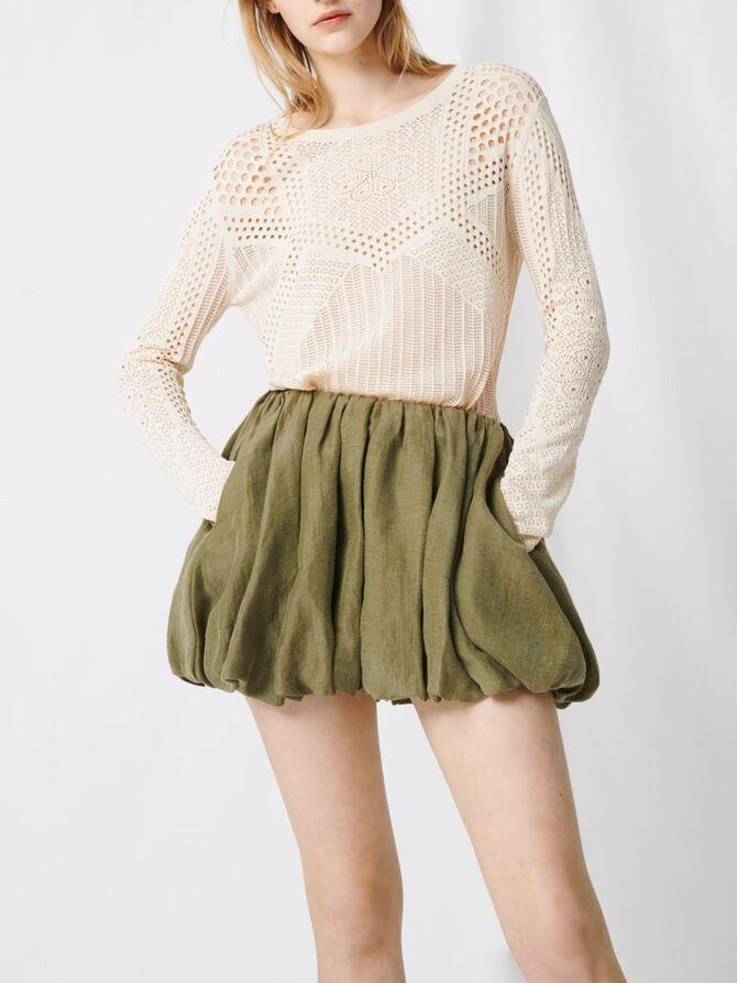 Draped mini skirt -  - MAJE
