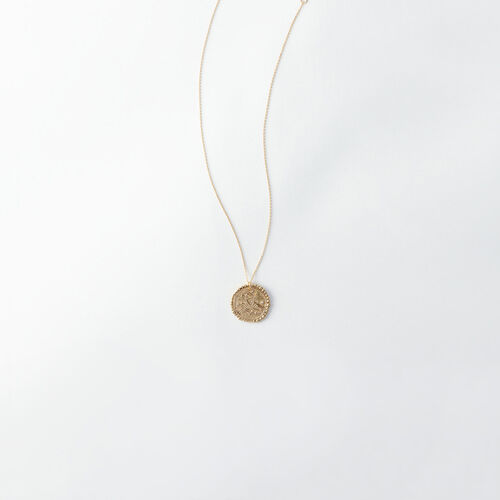 Sagittarius zodiac sign necklace : All accessories color Old Brass
