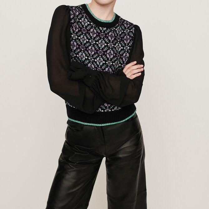 Fancy trompe-l'oeil sweater - See all - MAJE