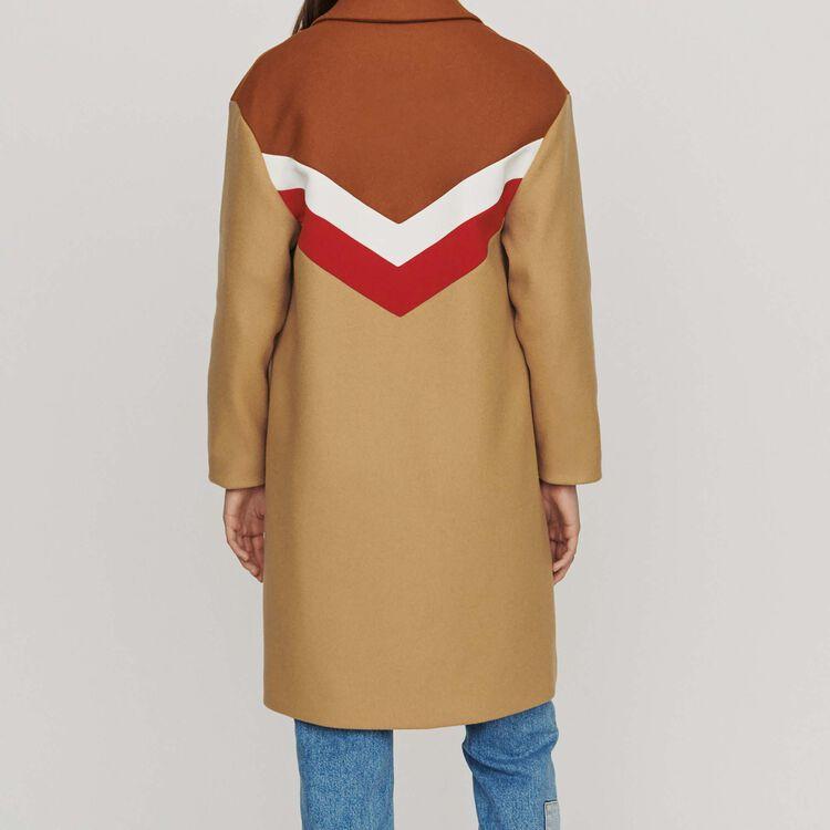 Manteau oversize en laine vierge : Manteaux couleur Camel