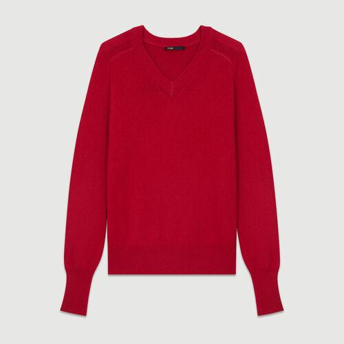 Pull oversize en laine et cachemire : Maille couleur FRAMBOISE