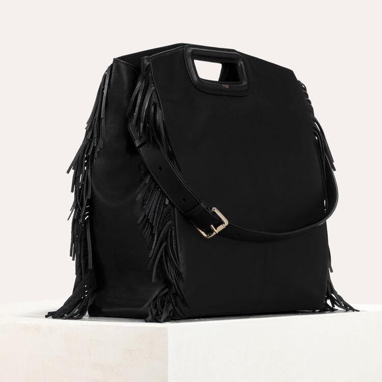 Cabas M en cuir : Autres M couleur BLACK