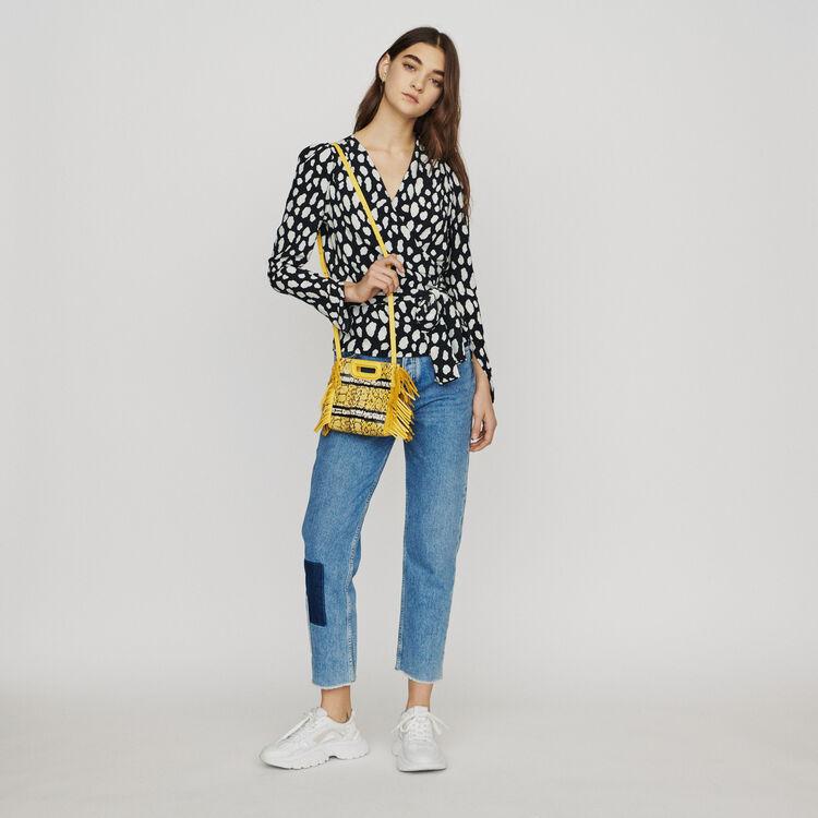 Top cache-coeur imprimé : Tops & Chemises couleur IMPRIME