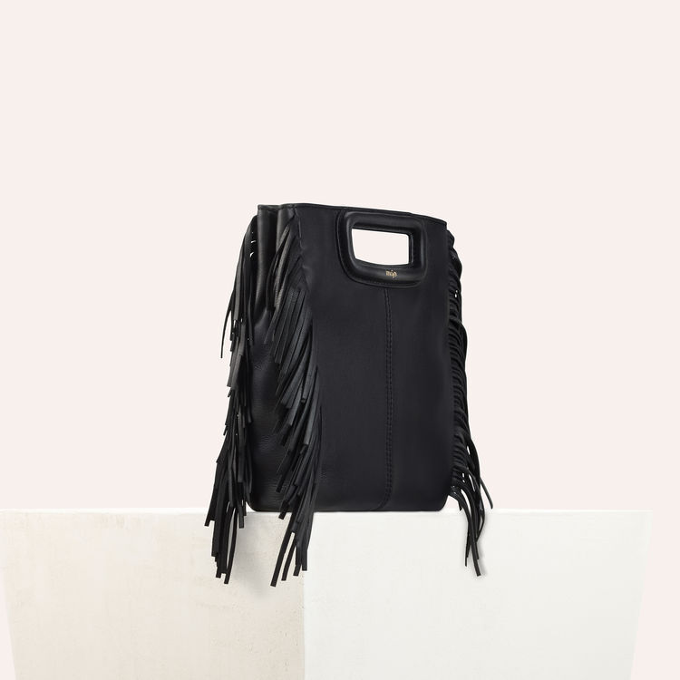 Leather M bag : M bag color Black