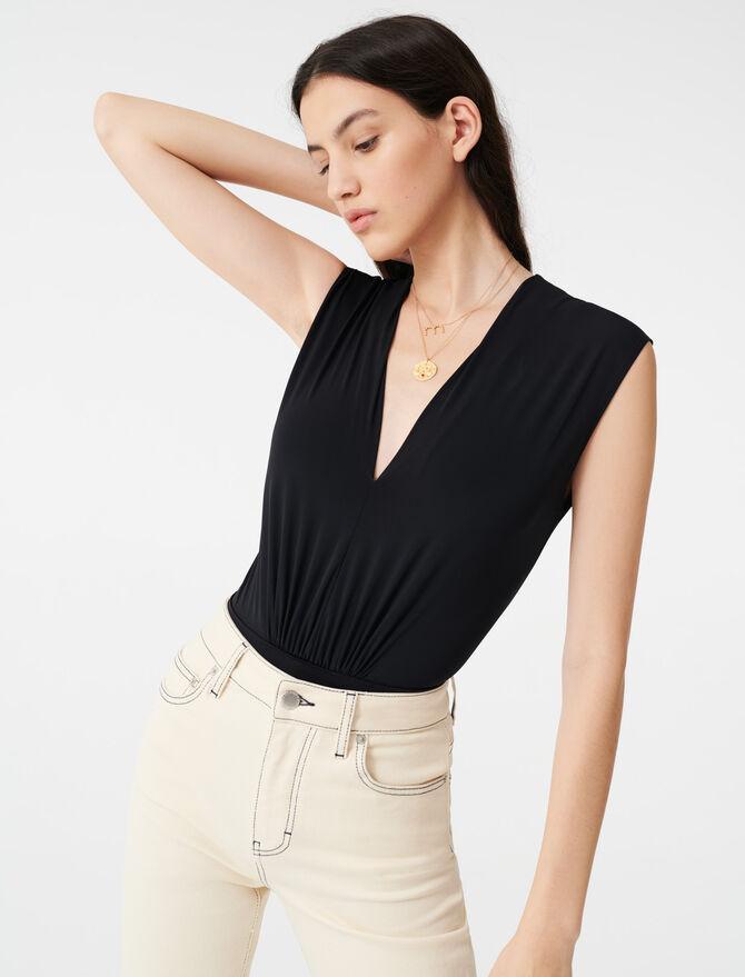 Body drapé stretch - T-Shirts - MAJE