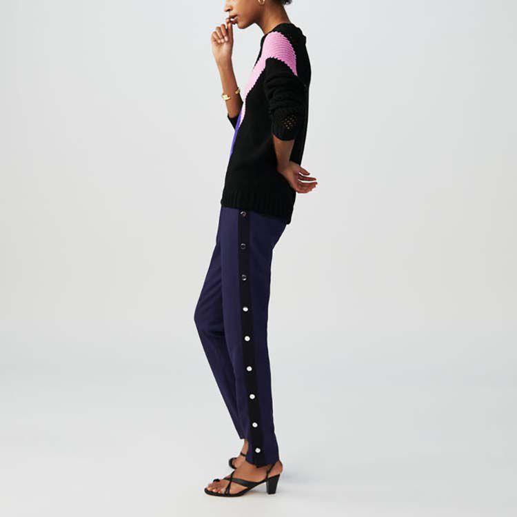 Pantalon loose avec pressions : Pantalons couleur Marine