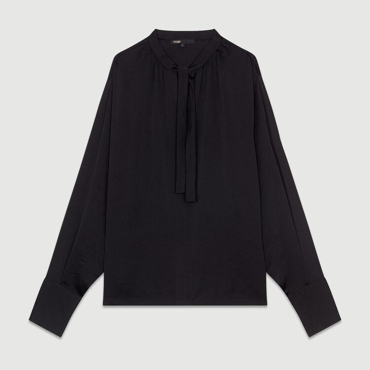 Blouse en crêpe : Tops couleur Black