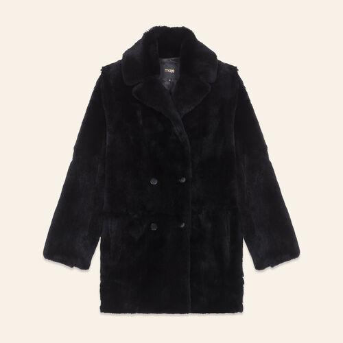 Manteau en lapin : Manteaux couleur BLACK