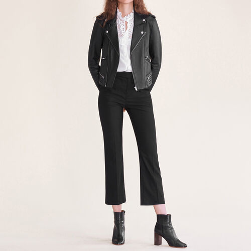 Formal wool trousers : Trousers & Jeans color Black 210