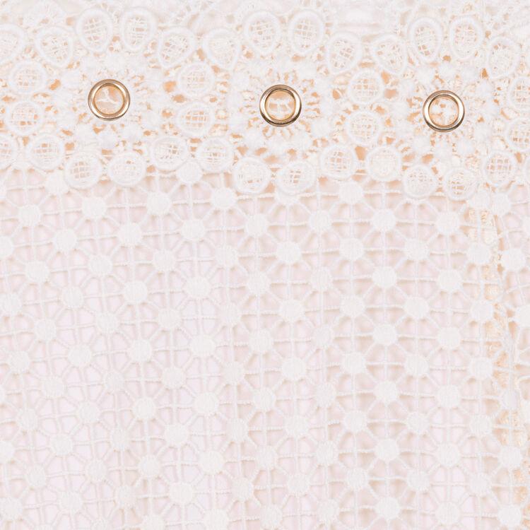 Robe à bretelles en dentelle : Robes couleur Rose