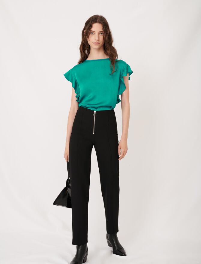 T-shirt sans manches à volants - T-Shirts - MAJE