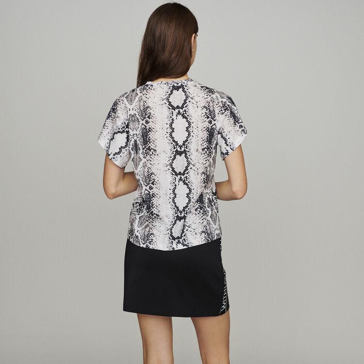 Tee-shirt imprimé python : T-Shirts couleur IMPRIME