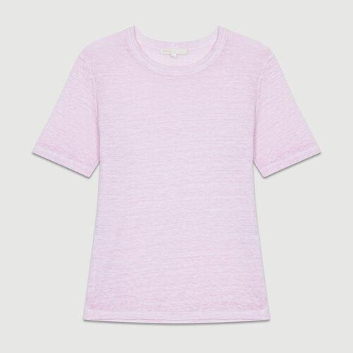 T-shirt en lin : T-Shirts couleur LILAS