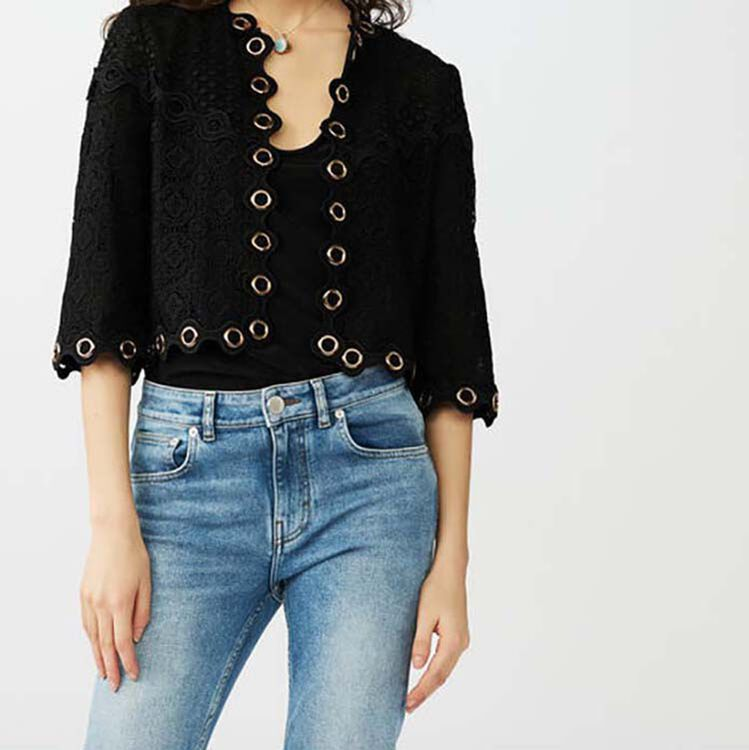 Guipure lace eyelet cardigan - See all - MAJE