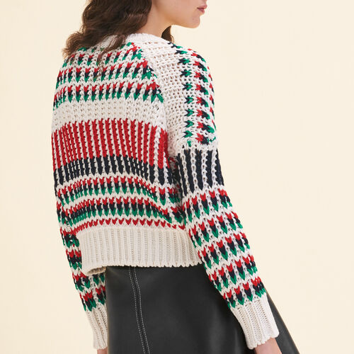 Pull en maille fantaisie multicolore : null couleur MULTICO
