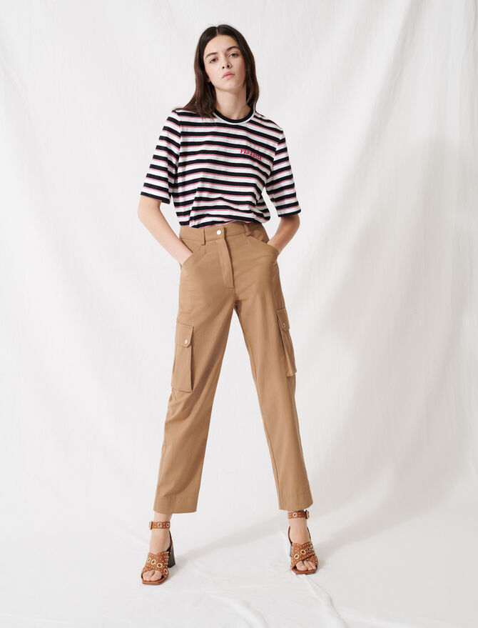 Camel cotton trousers - All the collection - MAJE