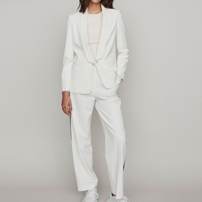 Straight-cut buttoned shawl lapel jacket - See all - MAJE