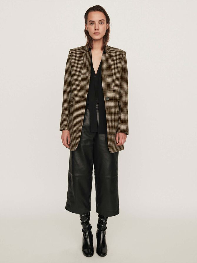 Plaid coat - Coats & Jackets - MAJE