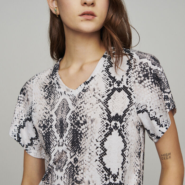Tee-shirtwith python print : T-Shirts color Printed